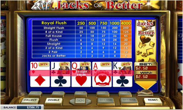 Video poker main